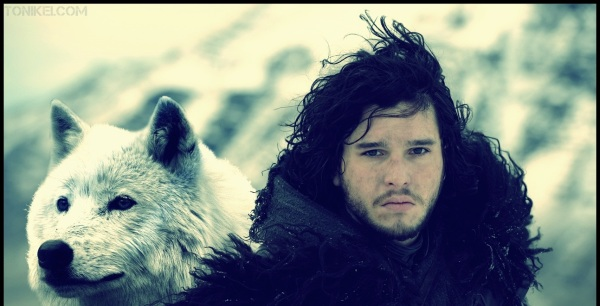 Ghost and Jon Snow