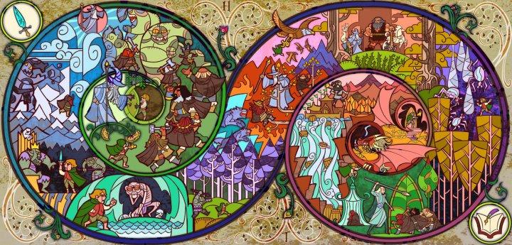 Resumo de O Hobbit em uma imagem