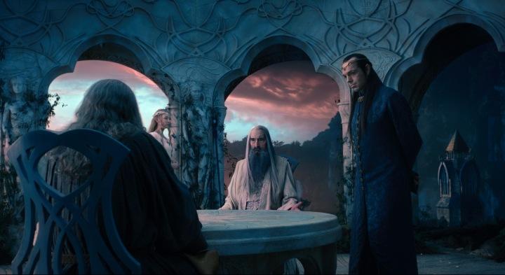 O Conselho Branco discutindo sobre Dol Guldur
