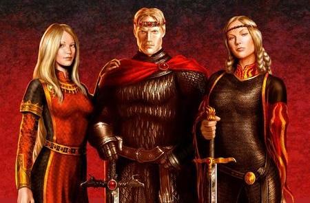 Aegon and his sisters (imagem da AWOIAF)